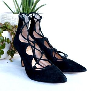 Vince Camuto Barsha suede lace up heel